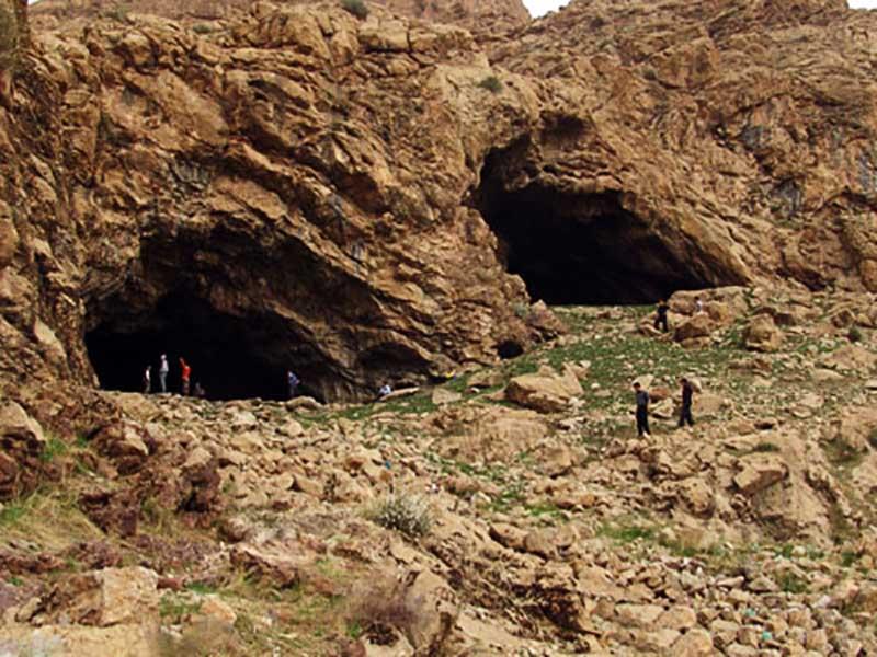 مکان های دیدنی مشهد,موقعیت غار مغان,نقشه غار مغان