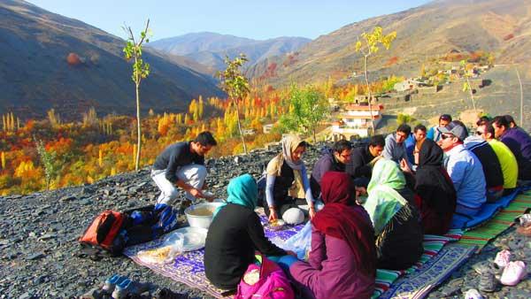 چای کوهی در روستا,خوردن حلیم در طبیعت,گزارش برنامه دهبار