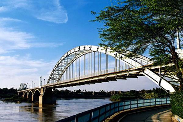 سازه های آبی تاریخی شوشتر,سازه های آبی شوشتر,عکس رودخانه کارون