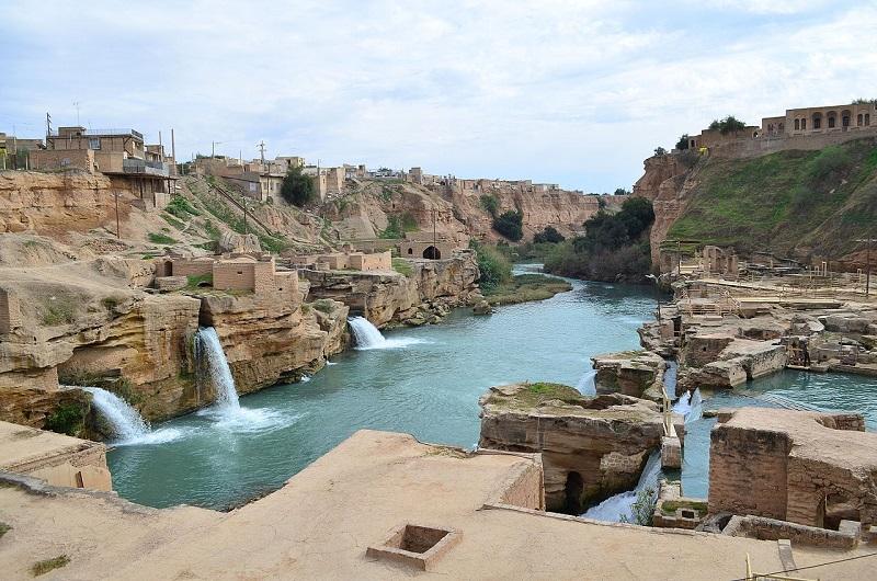 آسیاب آبی شوشتر,جلگه خوزستان,سازه هاي آبي شوشتر