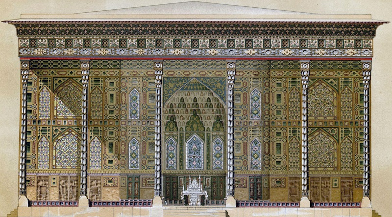 معماری کاخ چهل ستون اصفهان
