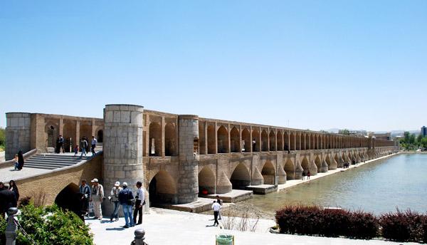 پل اصفهان,پل خواجو,پل خواجو تاریخچه