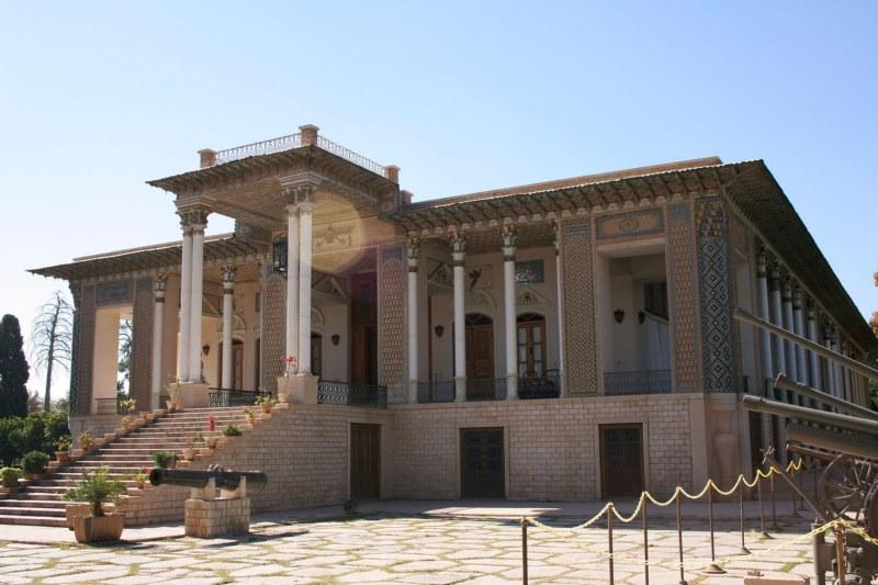 عفیف آباد شیراز,عکس باغ عفیف آباد شیراز,معماری باغ عفیف آباد شیراز