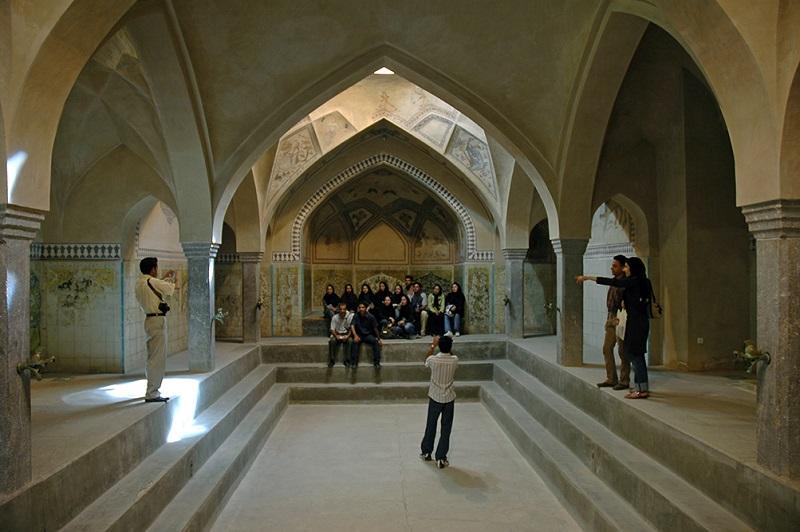 تاریخچه حمامهای ایرانی,حمام تاریخی اصفهان,حمام علی قلی آقا اصفهان
