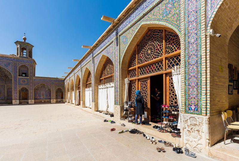 مسجد نصیرالملک در شهر,مسجد نصیرالملک در شیراز,مسجد نصیرالملک شیراز کجاست