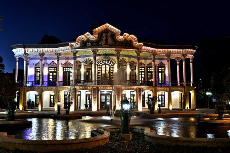 کاخ شاپوری شیراز,معماری عمارت شاپوری شیراز,منزل شاپوری شیراز