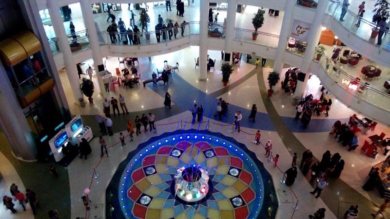 آبنمای جامپینگ مرکز خرید الماس شرق مشهد