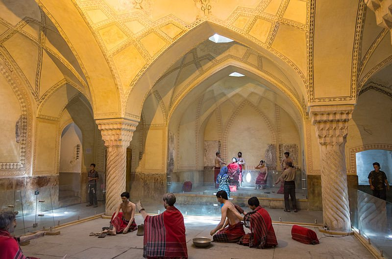آثار تاریخی شیراز,بازار وکیل شیراز,تاریخچه حمامهای ایرانی