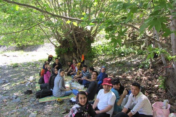 پیاده روی در طبیعت,تور مشهد,چای آتیشی