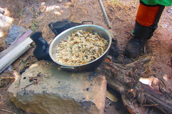ناهار مرغ و قارچ آتیشی