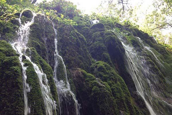 آبشارهای ساری,روستای میانا,عکس آبشار اوبن ساری