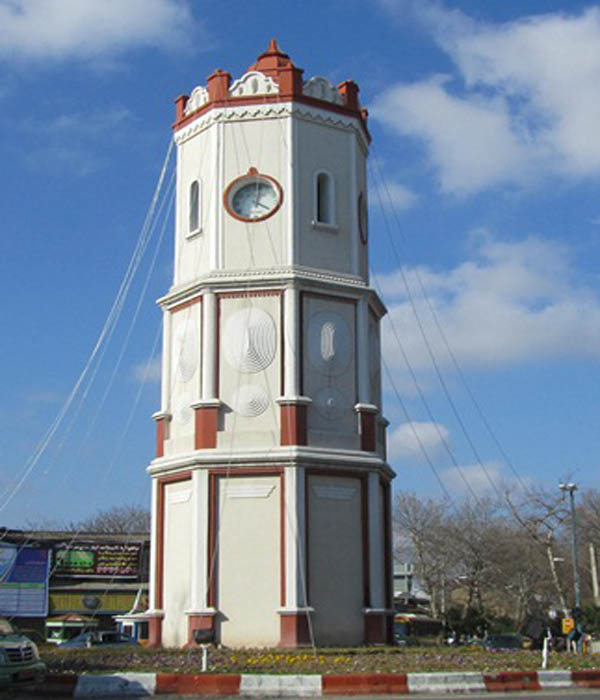 برج ساعت ساری,تاریخچه برج ساعت ساری,عکس برج ساعت ساری