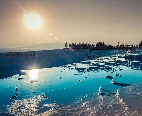 تصاویر شهر هیراپولیس ترکیه,چشمه های پاموک کاله هیراپولیس,دنیزلی ترکیه