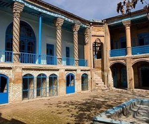 بنای تاریخی کرمانشاه,پلان خانه معین الکتاب کرمانشاه,خانه معین الکتاب