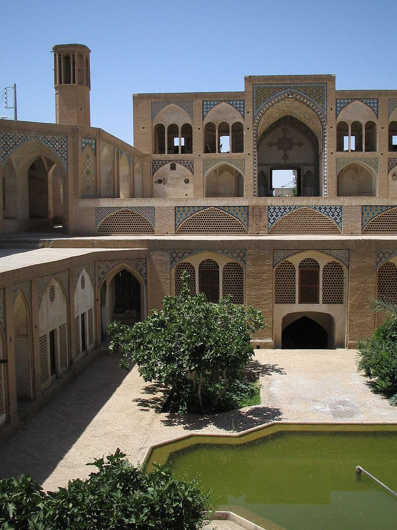 مسجد مدرسه آقا بزرگ کاشان,مسجد و مدرسه آقا بزرگ,معماری مسجد مدرسه آقا بزرگ