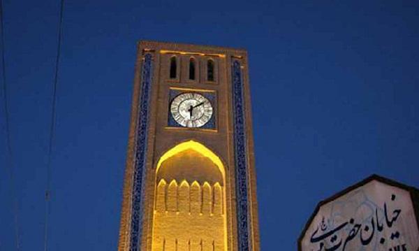 آدرس برج ساعت یزد,تاریخچه میدان ساعت یزد,ساعت یزد