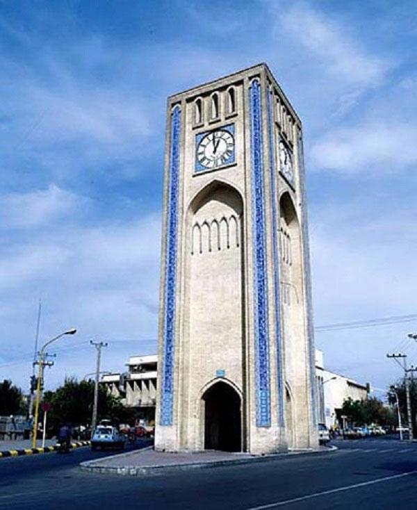 میدان ساعت یزد,میدان وقت الساعت یزد,میدان وقت و ساعت یزد