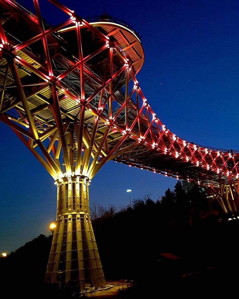 پل طبیعت در شب,رستوران ملل پل طبیعت,طراح پل طبیعت