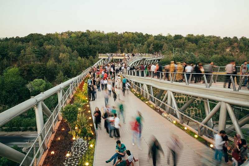 عکس پل طبیعت تهران,مسیر پل طبیعت,ورودی پل طبیعت