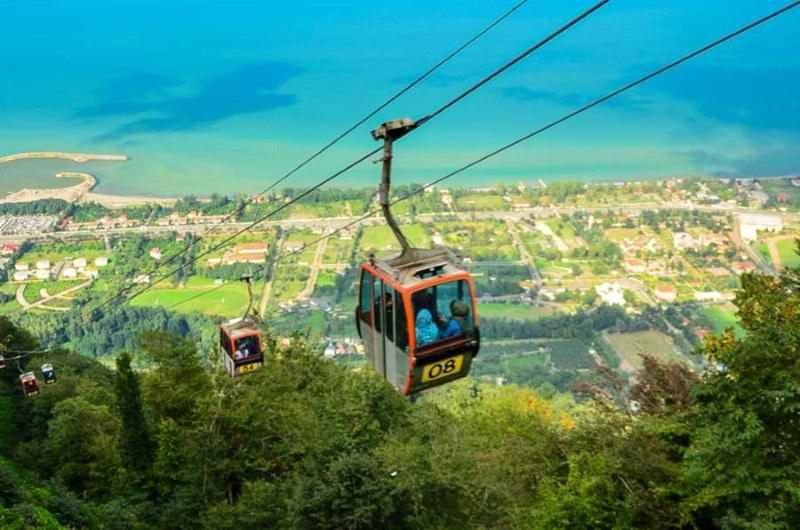 تصاویر تله کابین رامسر,تله کابین شهر رامسر,جاذبه های گردشگری مازندران