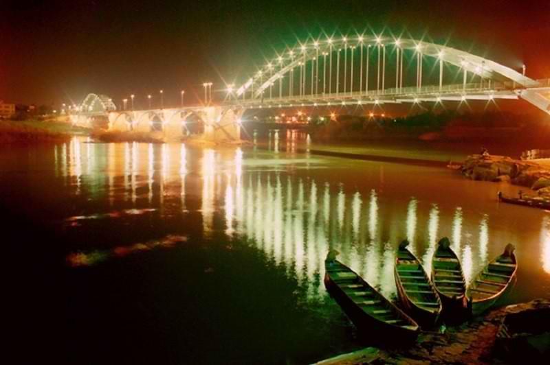 رود کارون در استان خوزستان,رودخانه کارون اهواز,سرچشمه رود کارون