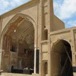 پلان مسجد سرخ ساوه,مسجد سرخ در استان مرکزی،جاذبه های توریستی استان اراک،جاذبه های گردشگری ساوه,مسجد سرخ در ساوه