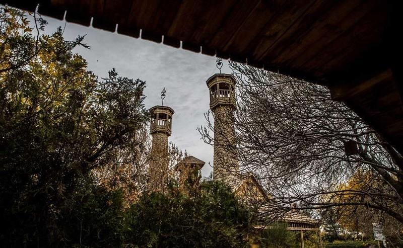 دهکده چوبی مشهد,دهکده چوبی نیشابور کجاست,دهکده و مسجد چوبی نیشابور