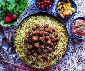 انار پلو شیرازی,غذاهای اصیل شیراز,غذاهای شهر شیراز